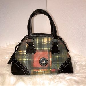 Dooney & Bourke ladybug Plaid satchel handbag